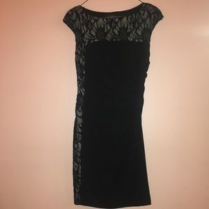 Betsy & Adam Black Formal Dress